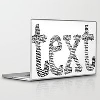text Laptop & iPad Skins featuring text by JULIA