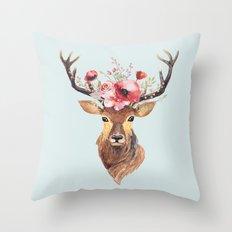 Bohemian Deer 2 Throw Pillow