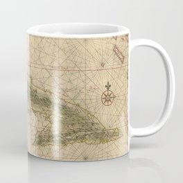 1639 Vintage Map of Cuba Coffee Mug