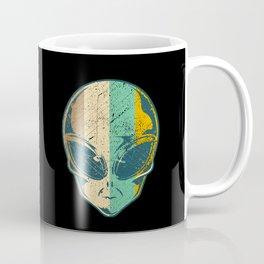 Vintage Retro Alien Spaceship Abduction Martian Gift Coffee Mug