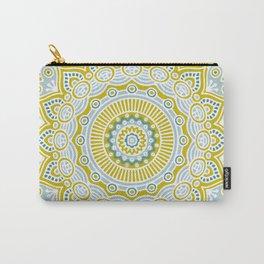 Mustard Mandala Carry-All Pouch