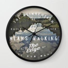 the reinvention of daily life Wall Clock