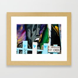 Not a white picket fence Framed Art Print