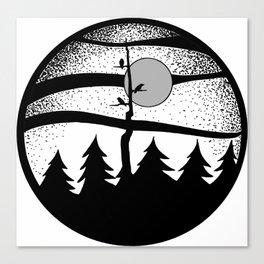 Raven Tree Monochrome Canvas Print