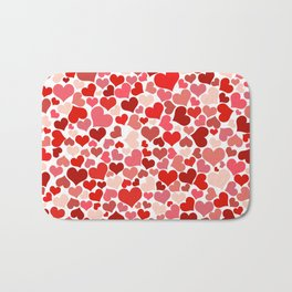 Loveheart Pattern - Romantic Love Patterns - Gift of Love Bath Mat