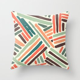 Color stitch Throw Pillow