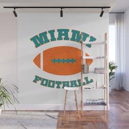 Miami Football Wall Mural