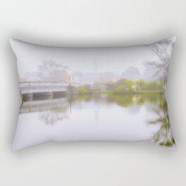 It was foggy autumn morning Rectangular Pillow