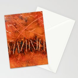 Lines (Orange Abstract) Stationery Cards