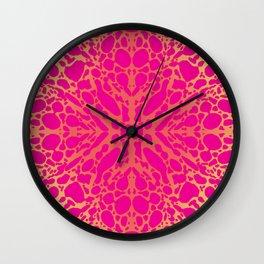 Dart Frog Animal Print - Hot pink Wall Clock