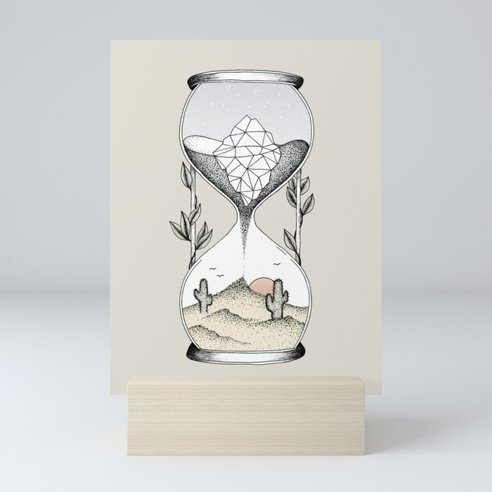 Time Is Running Out Mini Art Print
