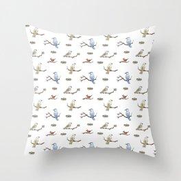 Spring Birds Throw Pillow