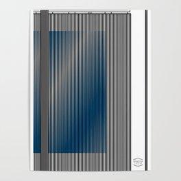 Escultura Cubo virtual azul y negro con progresión amarilla -Detail- Poster