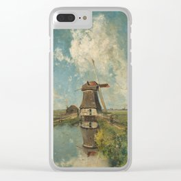 A mill on a polder canal, known as 'In the month of July' - Paul Joseph Constantin Gabriël (1889) Clear iPhone Case