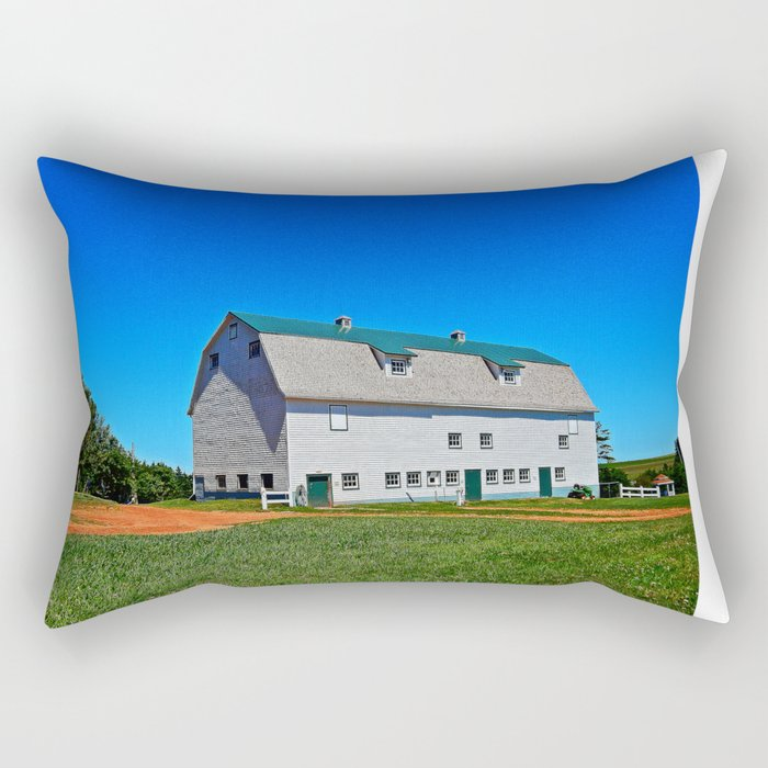 Beautiful Barn under Blue Sky Rectangular Pillow
