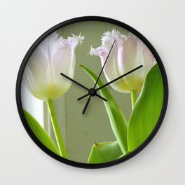 two blushing pilgrims Wall Clock