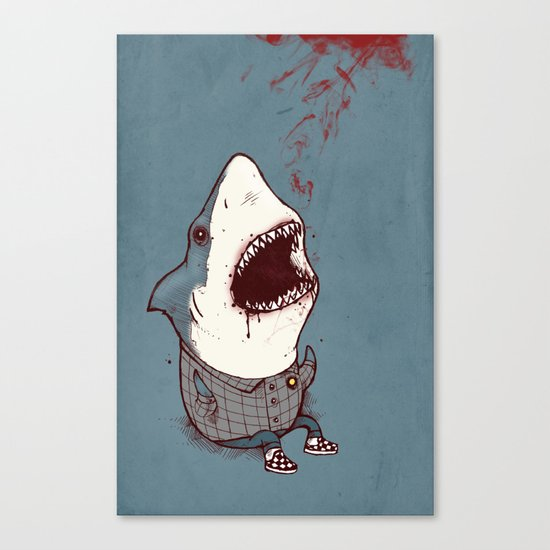 Shark Bites Canvas Print
