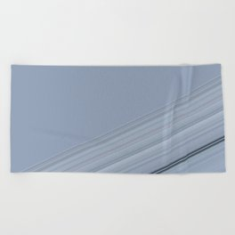 Soft Pastel Blues Stripe Design Beach Towel