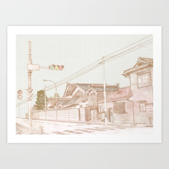 Red, Yellow, Green light Art Print