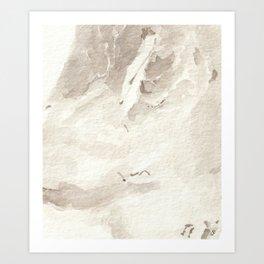 Clear Quartz Crystal Watercolor Art Print