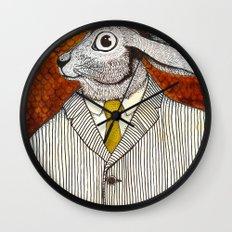 El conejo careta Wall Clock