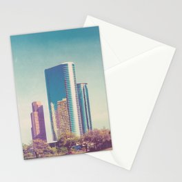 Downtown Houston Panorama Stationery Cards