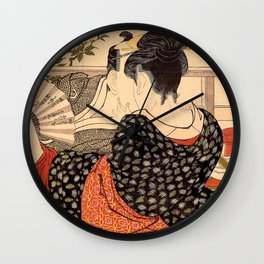 Lovers in an Upstairs Room Wall Clock