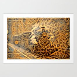 Puffing Billy Steampunk Art Print