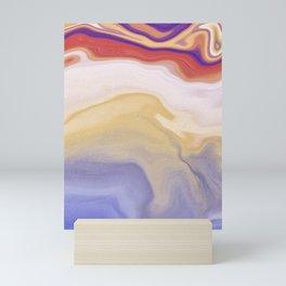 Sensing - Ink Alcohol Marbling - Rainbow - Vertical Mini Art Print