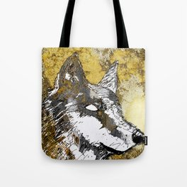 Gray Wolf Art Tote Bag