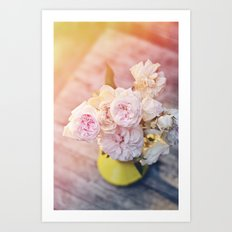The Last Days of Spring - Old Roses II Art Print