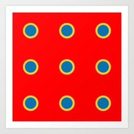 Dotted in Red Art Print