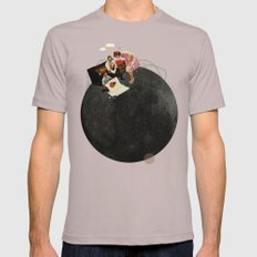 Life on Earth  | Collage | White Cinder SMALL Mens Fitted Tee