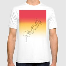 Lava Ma Mens Fitted Tee White MEDIUM