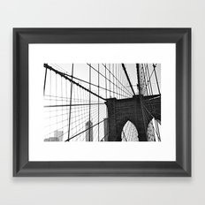 Brooklyn Bridge II  Framed Art Print