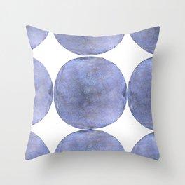 Inner Circle blue shade Throw Pillow