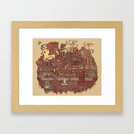 Pittsburgh Island Framed Art Print