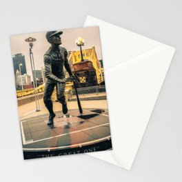 Pittsburgh Baseball Roberto Clemente Statue Print Stationery Cards