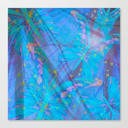 Butterflies On A Turquoise Background #decor #society6 Canvas Print