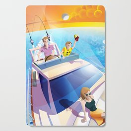 FAMILY ON YACHT Cutting Board