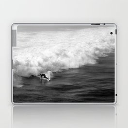 Lone Surfer in Black and White Laptop & iPad Skin