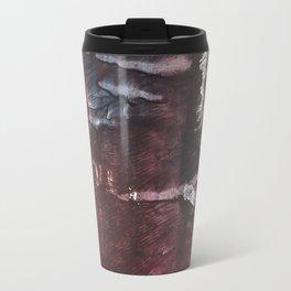 Brown Blue colored watercolor design Travel Mug