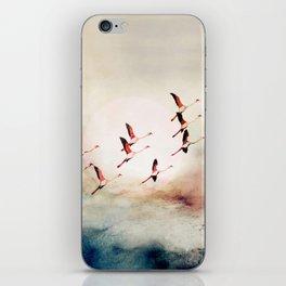 Flock of Flamingos iPhone Skin