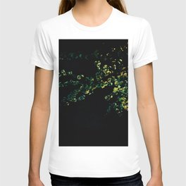 abstract flower bouquet in the moonlight T-shirt