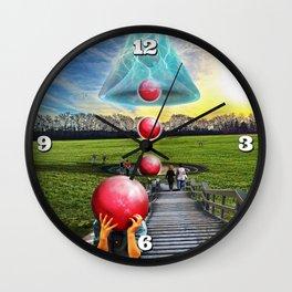 Interspatial Field Wall Clock