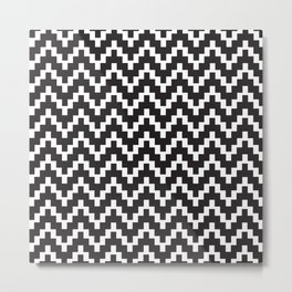 Pattern in Black and White Metal Print