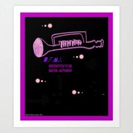 Unidentified Flying Musical Instrument. UFMI Art Print