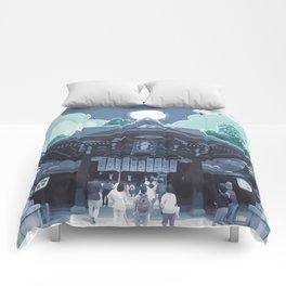 Night in Japan Comforters