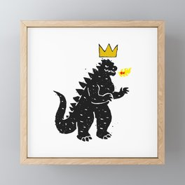 Jean-Michel Basquiat's Crown on Japanese Monster Framed Mini Art Print
