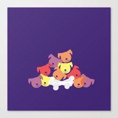 Dog Pile Canvas Print